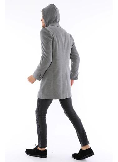 Dewberry Düğmeli Cepli Yünlü Uzun Erkek Palto Gri